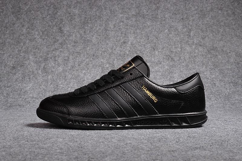 pas mal 2d1c2 5860f 100% Authentique adidas cuir noir homme Outlet en ligne