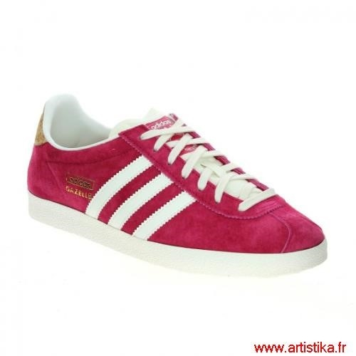 100% Authentique adidas gazelle rose fushia Outlet en ligne