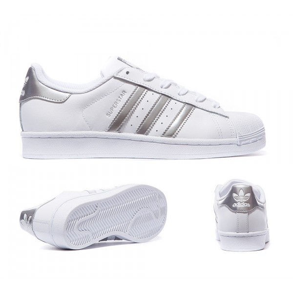 100% Authentique adidas grise femme superstar Outlet en ligne
