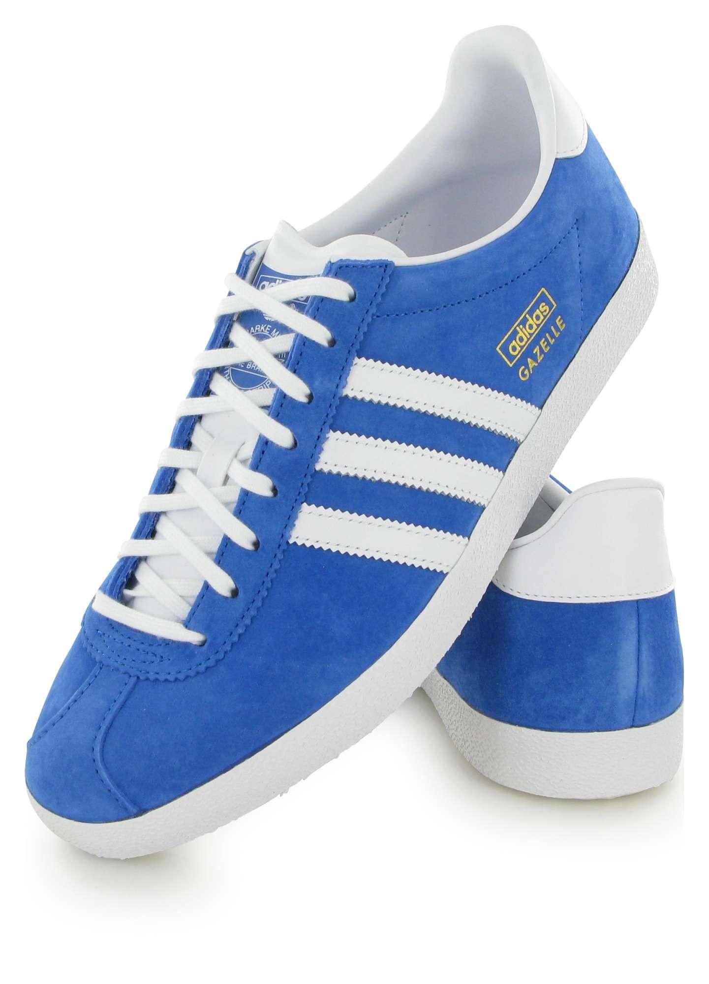 100% Authentique adidas original gazelle bleu Outlet en ligne