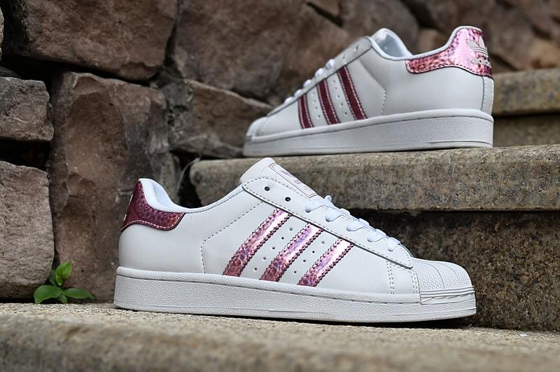 Superstar Rose Et Blanche HommeFemme Adidas Originals