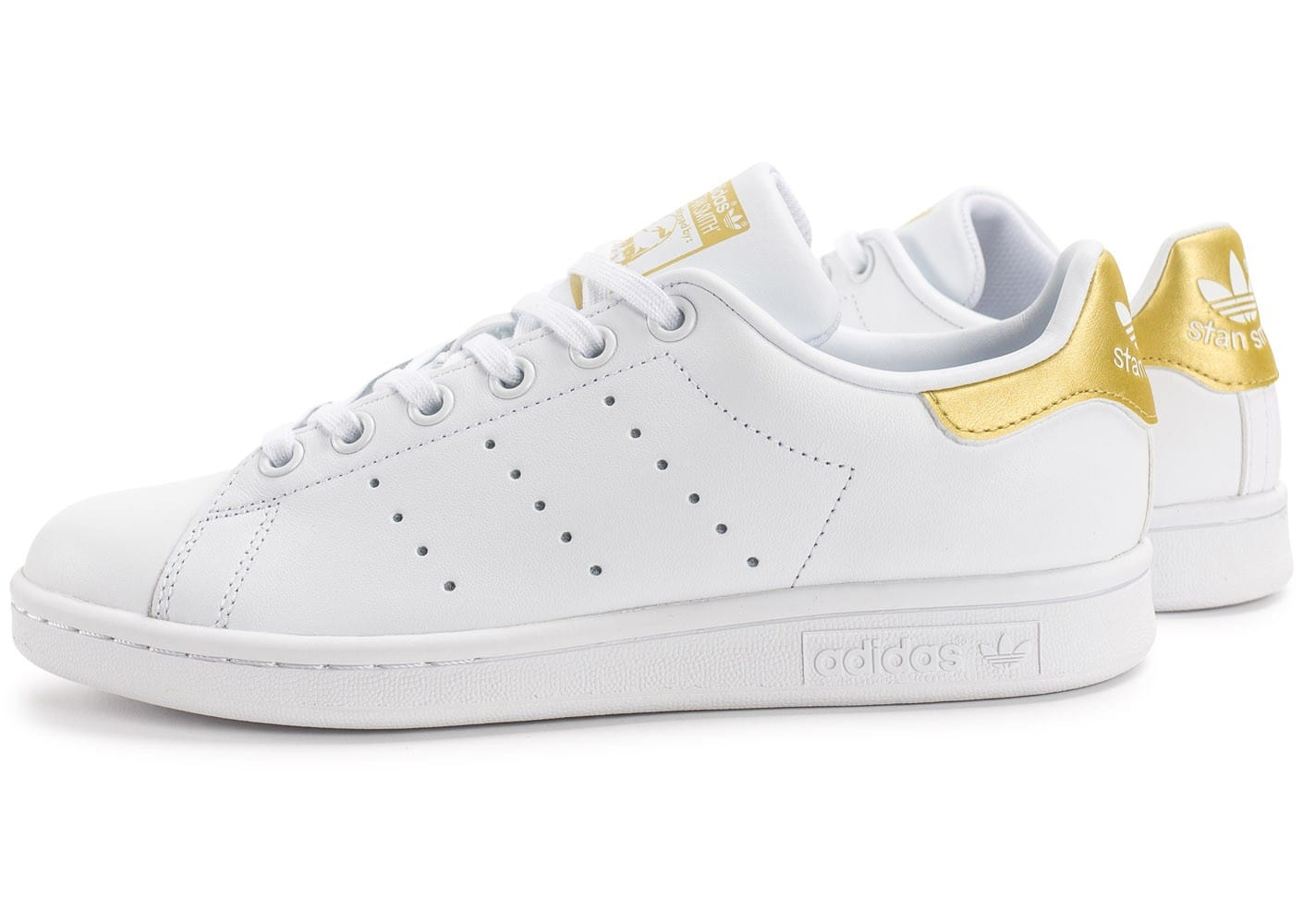 100% Authentique adidas stan smith blanche et or Outlet en ligne