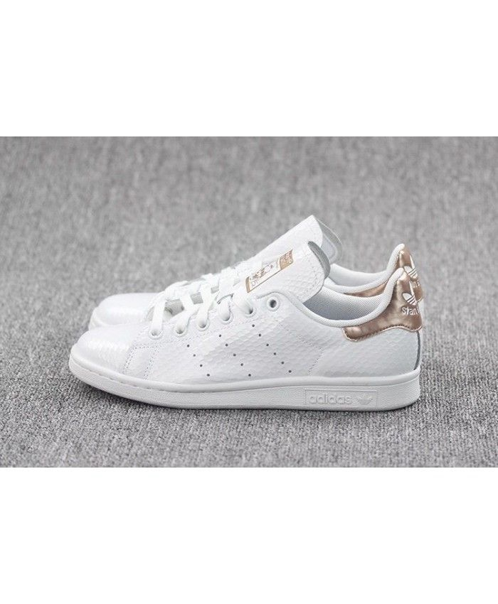 plus de photos 2e9d3 19591 100% Authentique adidas stan smith gloss rose gold Outlet en ...