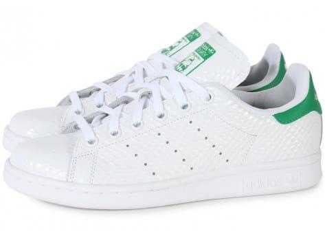 100% Authentique adidas stan smith vert blanc Outlet en ligne