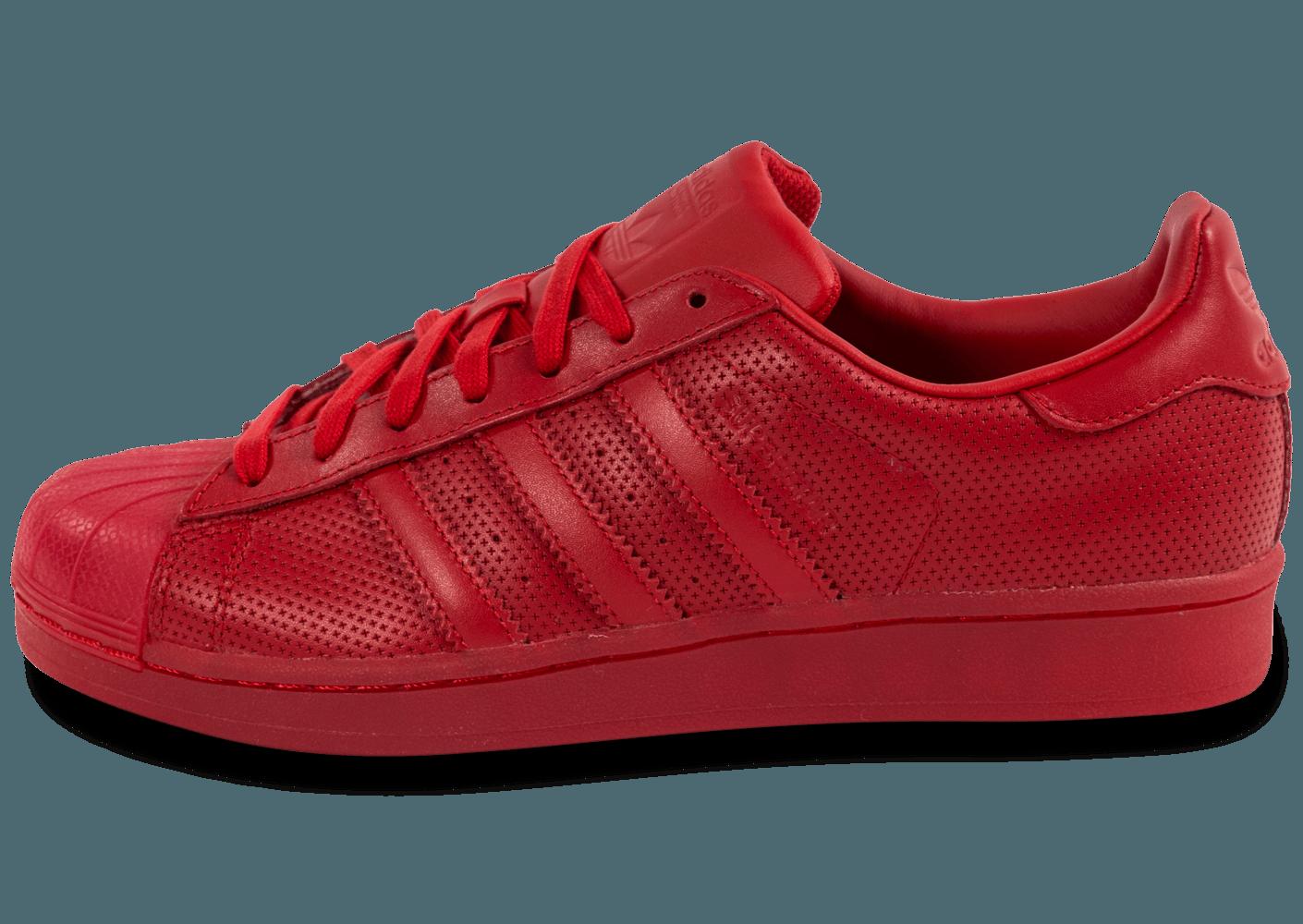 100% Authentique adidas superstar adicolor rouge Outlet en ligne