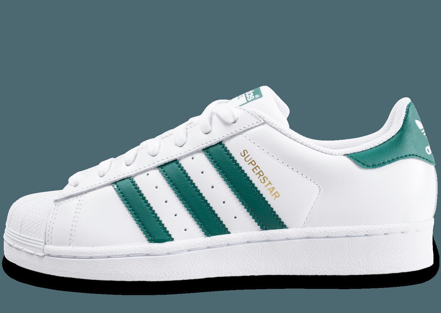 Adidas Superstar Vert 100Authentique Et Blanc Outlet Ligne En WHYD2I9E