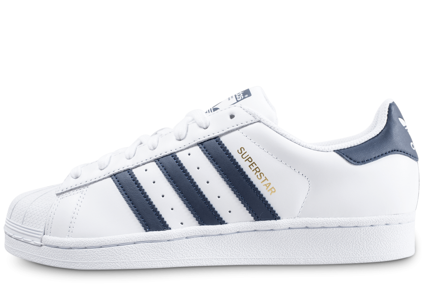 100% Authentique adidas superstar bleu et blanche Outlet en