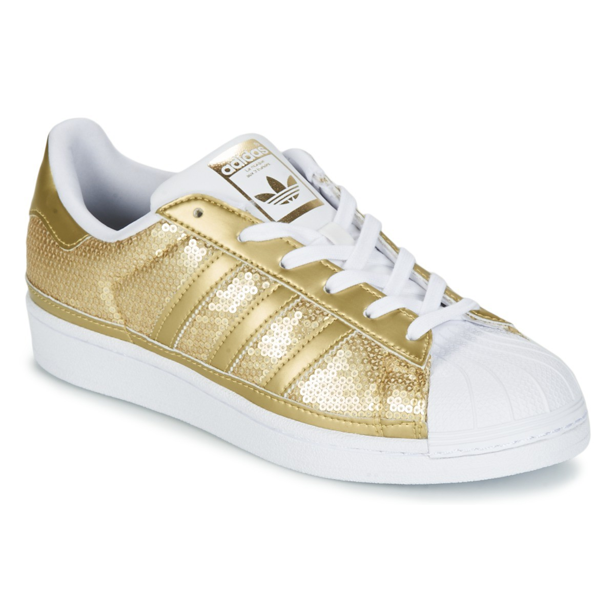 adidas superstar femme blanc or