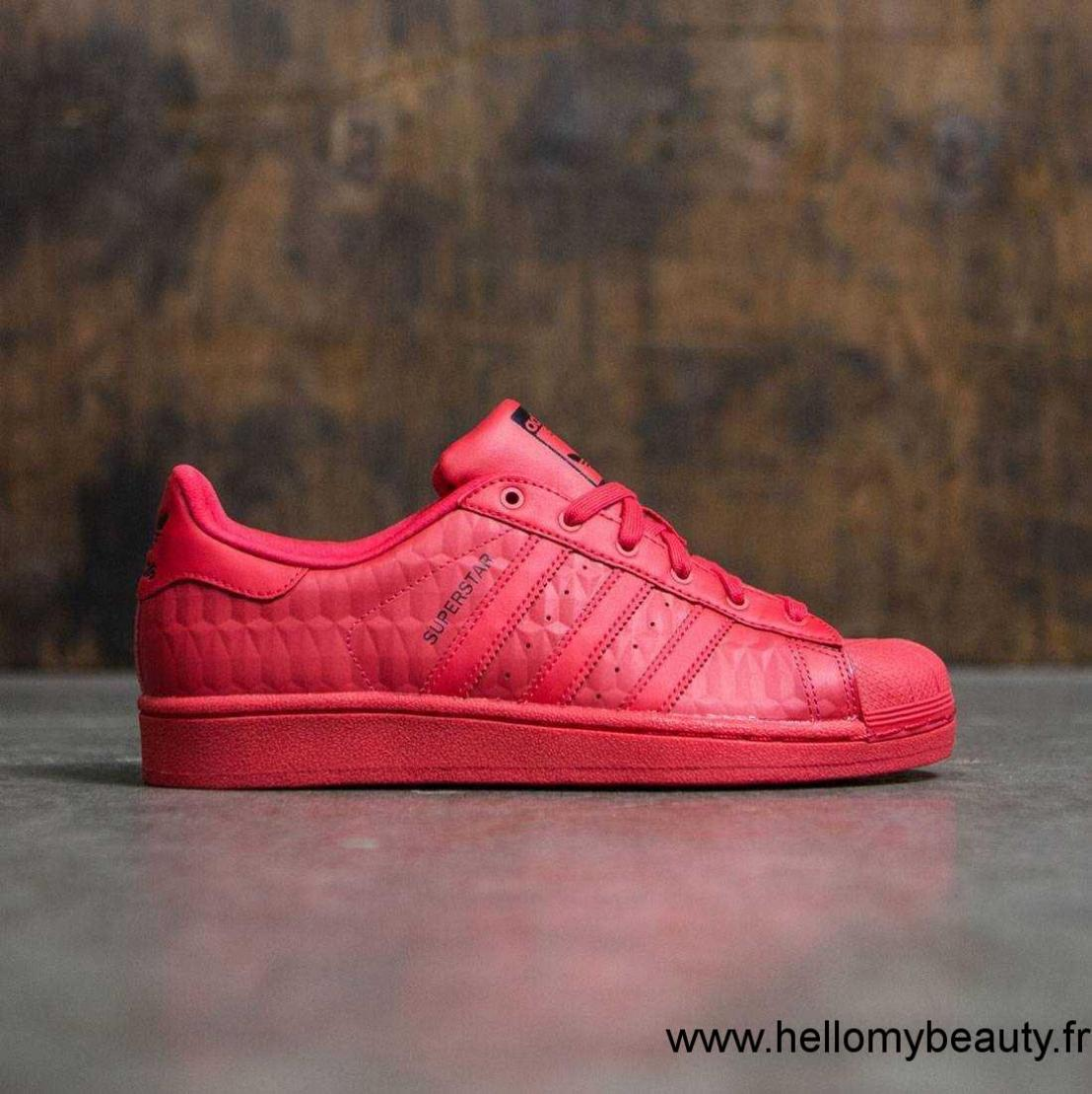 100% Authentique adidas superstar rouge taille 35 Outlet en