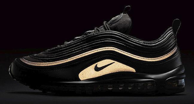 Homme Nike Air Max 97 Retro Noir Or Pas Cher Outlet
