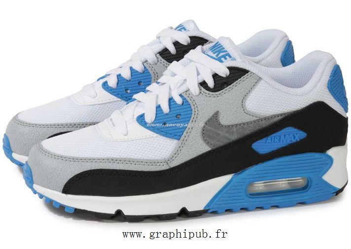 100% Authentique air max bleu et gris Outlet en ligne