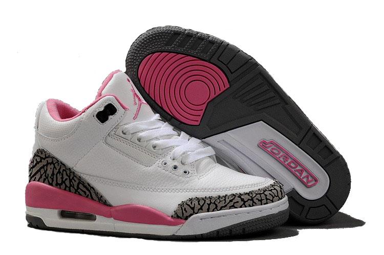 100% Authentique basket jordan femme blanc et rose Outlet en